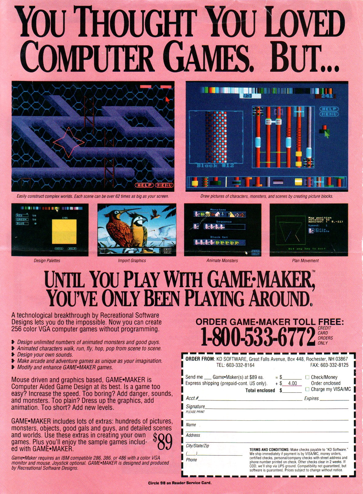 Magazine ad for RSD Game-Maker (1992)