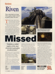 PC Gamer UK - Riven review